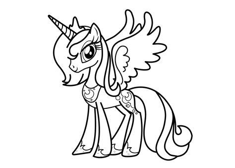 Celestia Kleurplaat My Pony by My Pony Coloring Pages Princess Celestia Az