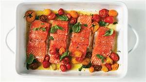 Slow-Baked Salmon and Cherry Tomatoes