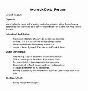 Awesome Mbbs Doctor Resume Template