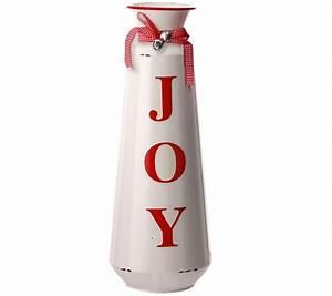 18, U0026quot, Metal, U0026quot, Joy, U0026quot, Jug, Vase, With, Ribbon, U0026, Bells, Byvalerie