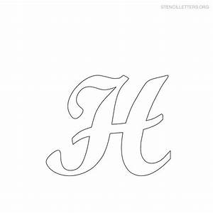 Stencils alphabet stencils and alphabet on pinterest for Large cursive letter stencils