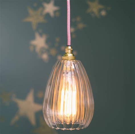 Molly Handmade Ribbed Glass Pendant Light By Glow Lighting