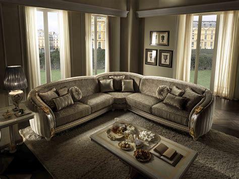 Divano Angolare In Stile Classico Corner Sofa By Arredoclassic
