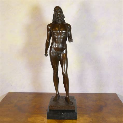 Wrought Iron Garden Benches by Warrior Reproduction Bronze Statues Of Riace Sculptures