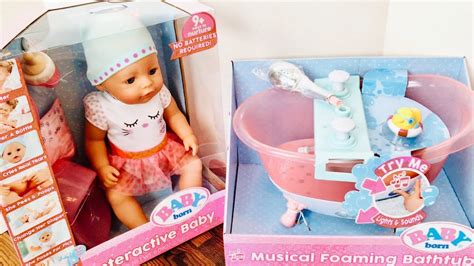 Baby Born Doll And With Musical Foaming Bath!
