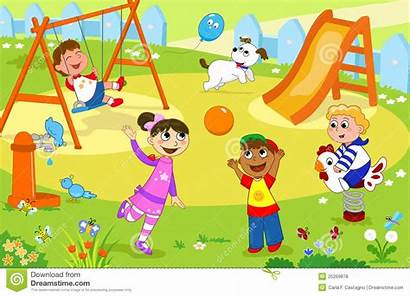 Playing Clipart Playground Park Children Clip Smiling