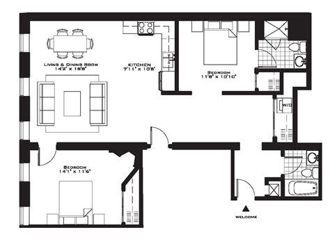2 Bedroom Apartment Floor Plan by Exquisite Luxury 2 Bedroom Apartment Floor Plans On