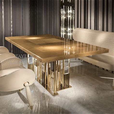 gold table l luxury dining table gold murano glass llorente