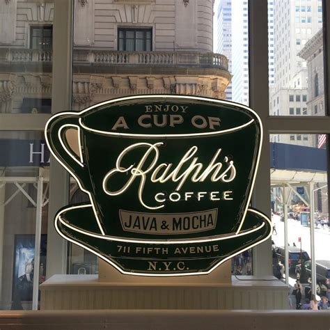 Ralph's coffee, that's the name of newly opened coffee shop at polo ralph lauren flagship. Ralph's Coffee - closed - Coffeelovernyc