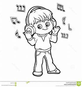 Listening To Music Clipart Black And White - ClipartXtras