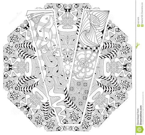 mandala con la letra v para colorear zentangle decorativo vector ilustraci 243 n vector