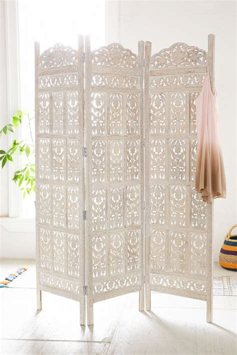 Amber Carved Wood Room Divider Screen  Urban Outfitters