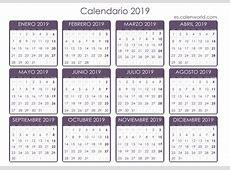 Calendario 2019 para imprimir Almanaque 2019 para imprimir