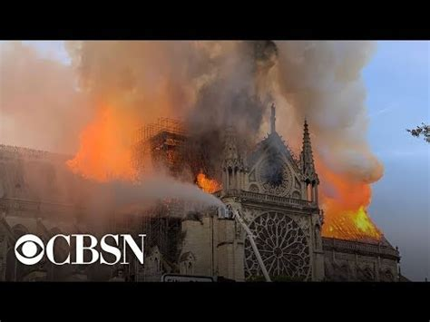 notre dame cathedral  paris  fire  stream youtube