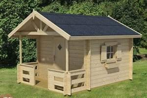 Grande Cabane Enfant : cabane enfants une maisonnette en bois pour le jardin tous chalets ~ Melissatoandfro.com Idées de Décoration