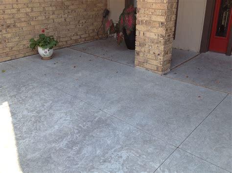 textured concrete patio more photos bill s custom concrete oklahoma city s best concrete contractor and yard drain
