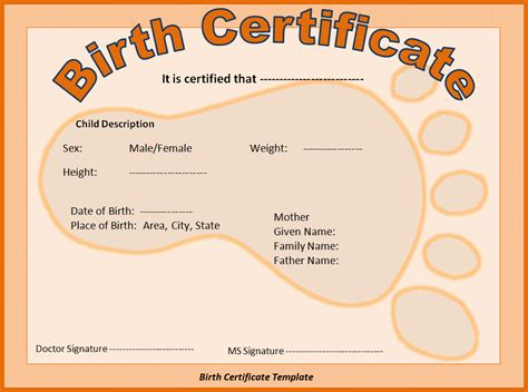 Birth Certificate Online Template by Thomasthinktank Licensed For Non Commercial Use Only