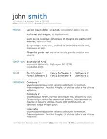Resume Template 50 Free Microsoft Word Resume Templates For
