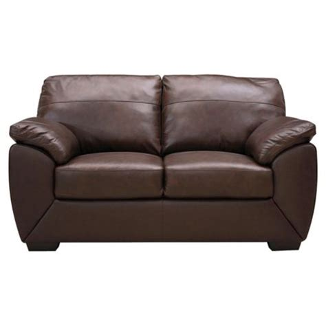 buy alberta leather small 2 seater sofa chocolate from our leather sofas range tesco - Small 2 Seater Leather Sofa