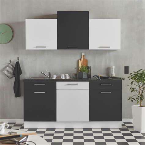 Kleine Schwarz Weiße Seidenmatte Küchenzeile Nur 888