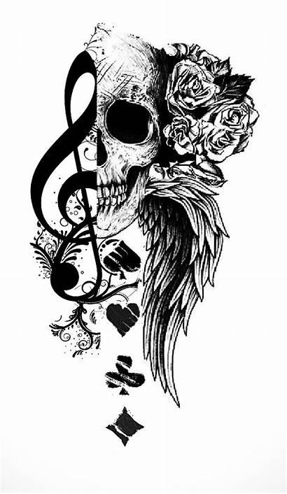 Tattoo Skull Playing Cards Tattoos Rose Card
