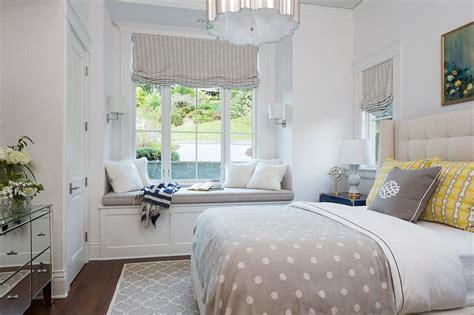 bedroom built  window seat nook  wainscoting