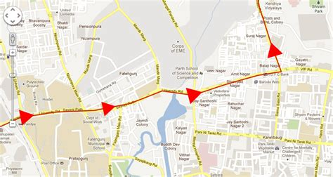show travel direction arrow  google map