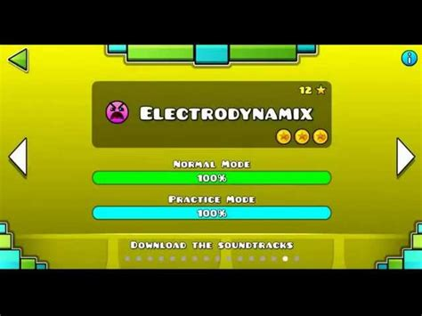 Geometry Dash Level 15 Electrodynamix 100