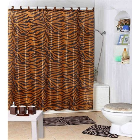 safari print shower curtain home design and decoration