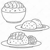 Rice Chicken Clipart Pollo Arroz Hervido Depositphotos Clip Hotmail sketch template