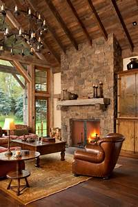 15 Warm & Cozy Rustic Living Room Designs For A Cozy Winter