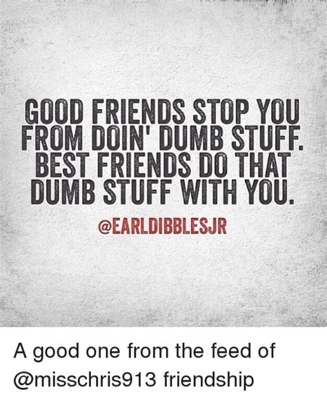 Good Friends Meme - good friends stop you from doin dumb stuff best friends do that dumb stuff with you a good one
