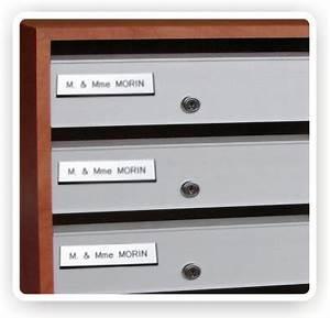Etiquette Pour Boite Aux Lettres : plaque boite aux lettres en ligne aux normes de la poste ~ Dailycaller-alerts.com Idées de Décoration