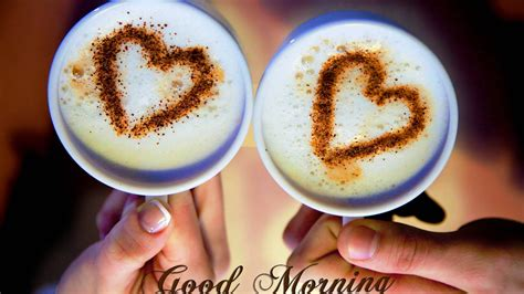 romantic love cups hearts good morning love hd wallpapers
