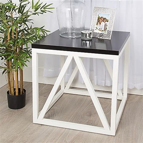 bed bath and beyond side table kate and laurel kaya side table bed bath beyond