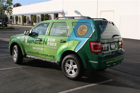 custom designed vehicle wrap   ford escape long beach