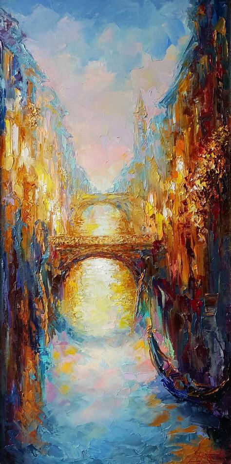 Evening Venice - original oil painting, impasto   Artfinder