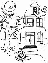 Haunted Coloring Halloween Pages Printable Scary Colouring Drawing Cartoon Houses Mansion Printables Colornimbus Adult Craft Getdrawings Ghosts Witch Night Cool sketch template