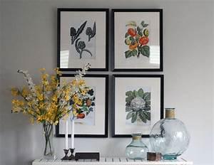 Dining room artwork walls