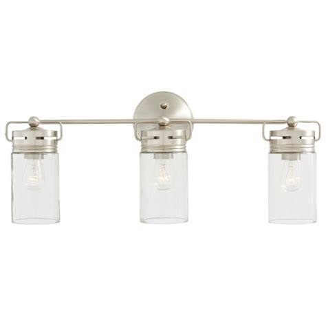 Allen Roth Brushed Nickel Floor L by Shop Allen Roth 3 Light Vallymede Brushed Nickel