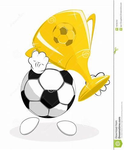 Trophy Winner Soccer Ball Clipart Vector Football