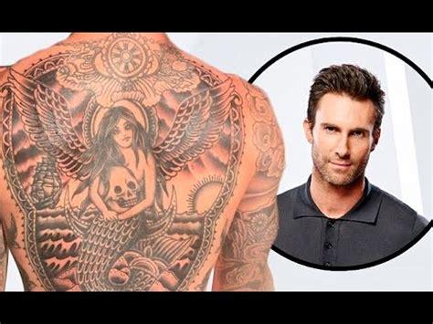 adam levine teased fans   glimpse   giant  tattoo youtube