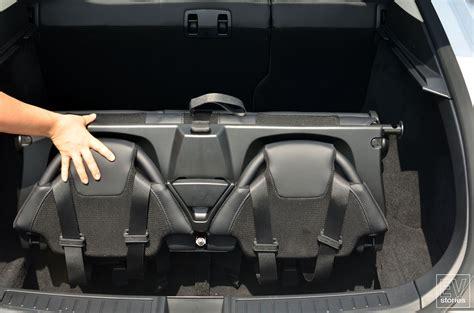 tesla model  folding rear facing child seats  tesla