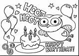 Coloring Birthday Pages Happy Printable sketch template