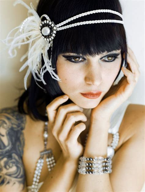 20s Hairstyles With Headband by Flapper Headpiece Headband Roaring 20s The Great Gatsby