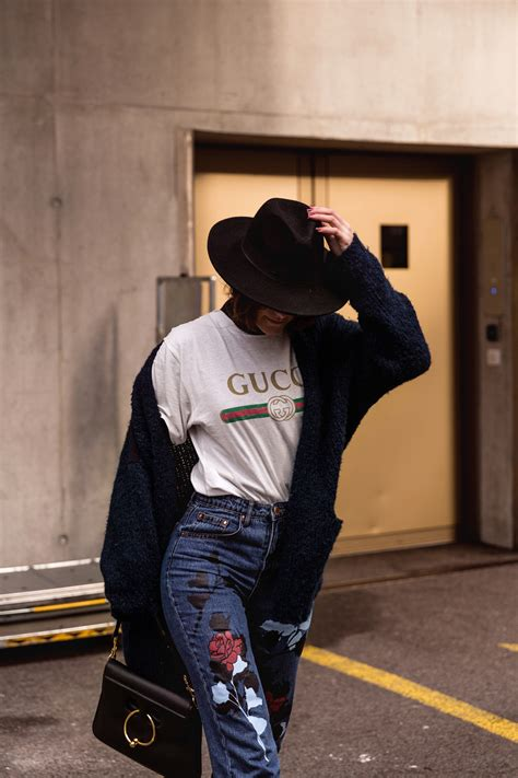 How to Style the Gucci Tee winter suitable u203a thefashionfraction.com