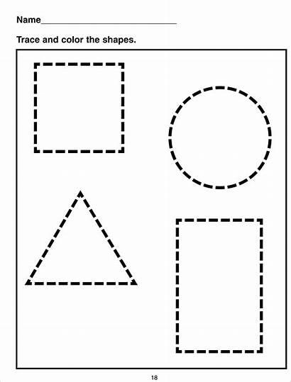 Shape Worksheets Worksheet Tracing Shapes Activity Printablecolouringpages