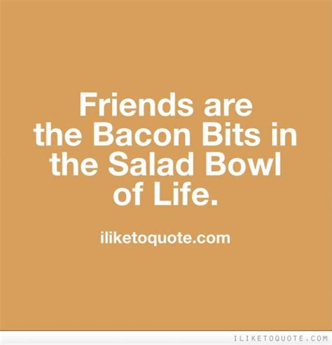 friends   bacon bits   salad bowl  life