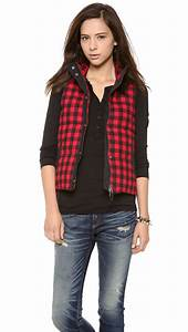 Madewell Puffer Vest In Red