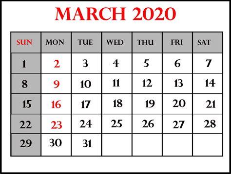 march  calendar template